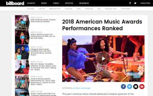 2018 American Music Awards Performances Ranked