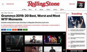 Rolling Stone - Cardi B - Grammys 2019