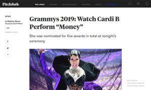 Pitchfork - Cardi B Grammys 2019