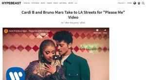 "HYPEBEAST March 2019 - Cardi B and Bruno Mars Take to LA Streets for ""Please Me"" Video"