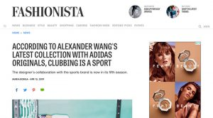 Fasionista - ACCORDING TO ALEXANDER WANG'S LATEST COLLECTION WITH ADIDAS ORIGINALS, CLUBBING IS A SPORT [Apr 2019]