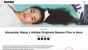 PAPER - Alexander Wang x Adidas Originals Season Five is Here [April 2019]